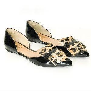 Banana Republic Leopard Print Oxford Flats Size 10